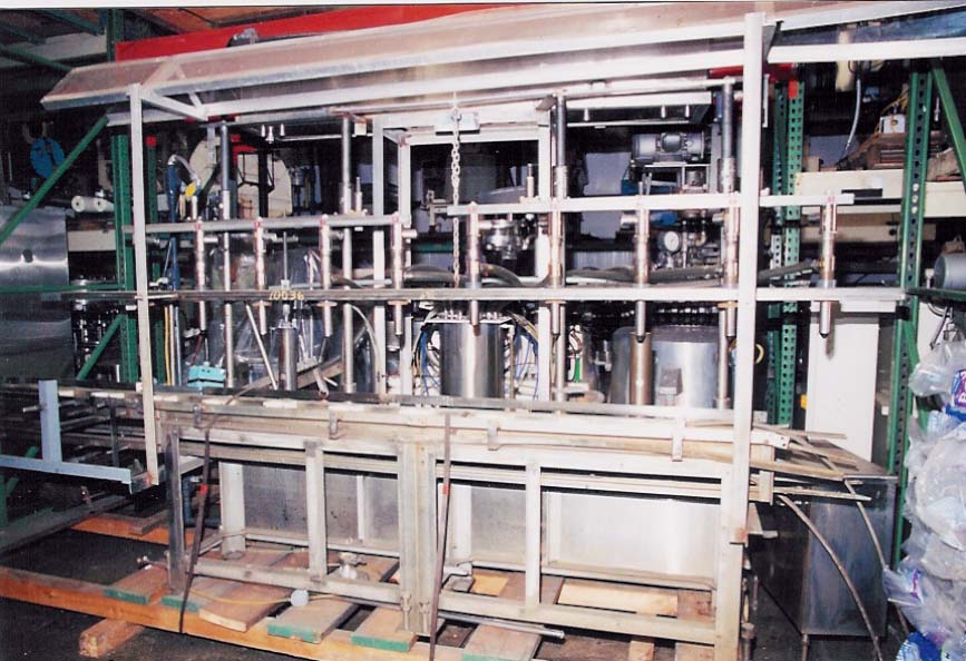 5 GALLON BOTTLING LINE BY PERL MACHINERY CORP, MODEL BCTA-10, S/N 2069. ALL SS CONSTRUCTION, TEN IN-LINE 1 3/8