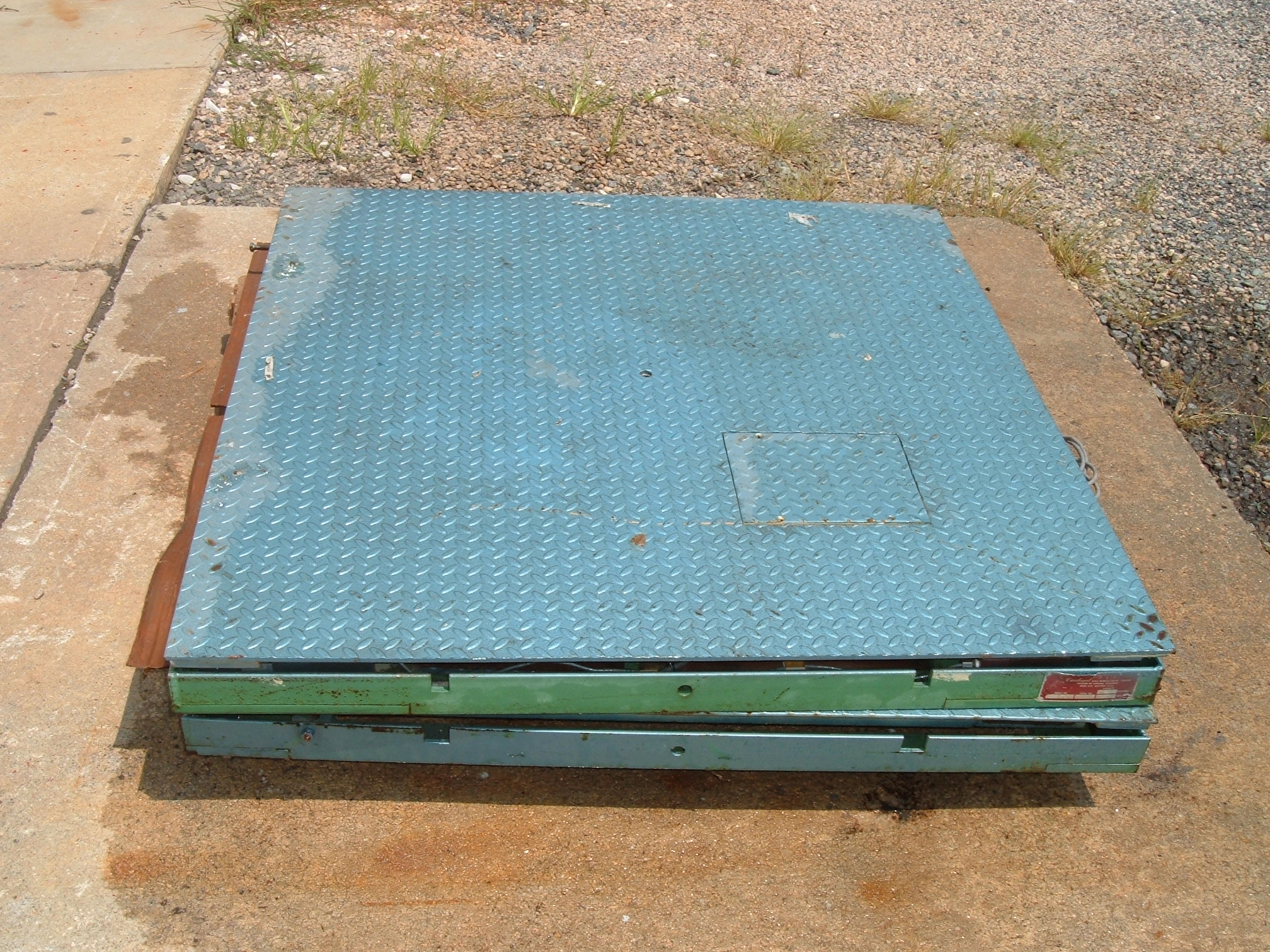 4X4 PLATFORM SCALES, NO READOUTS, JUST PLATFORMS, 5000# CAPACITY