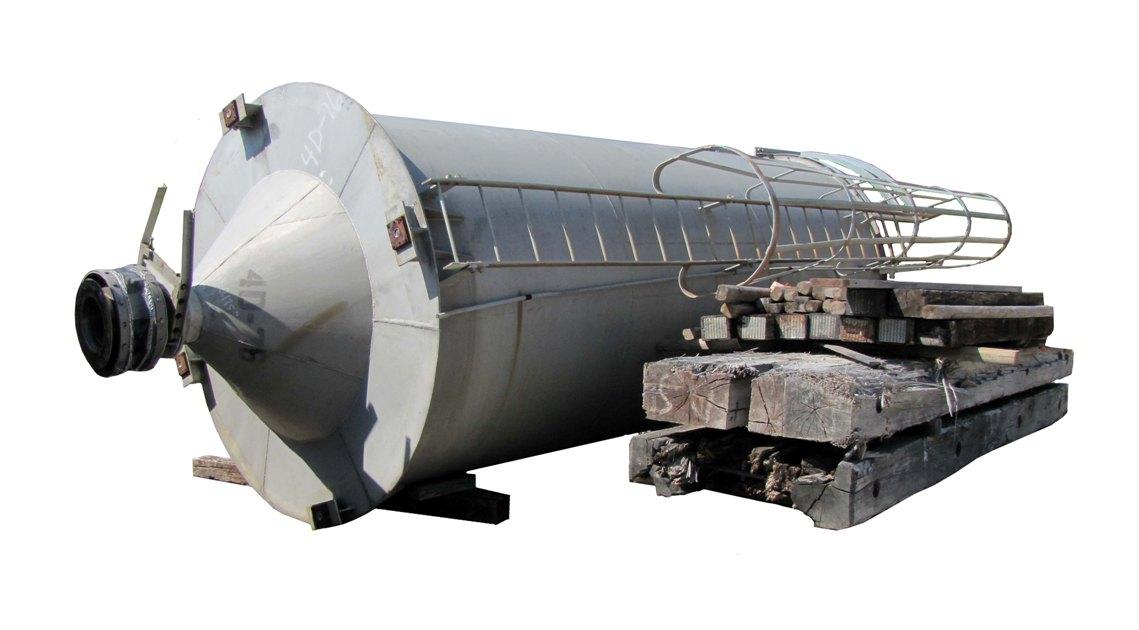 Item Aluminum Storage Silo 8 Dia X 20 Plus Cone