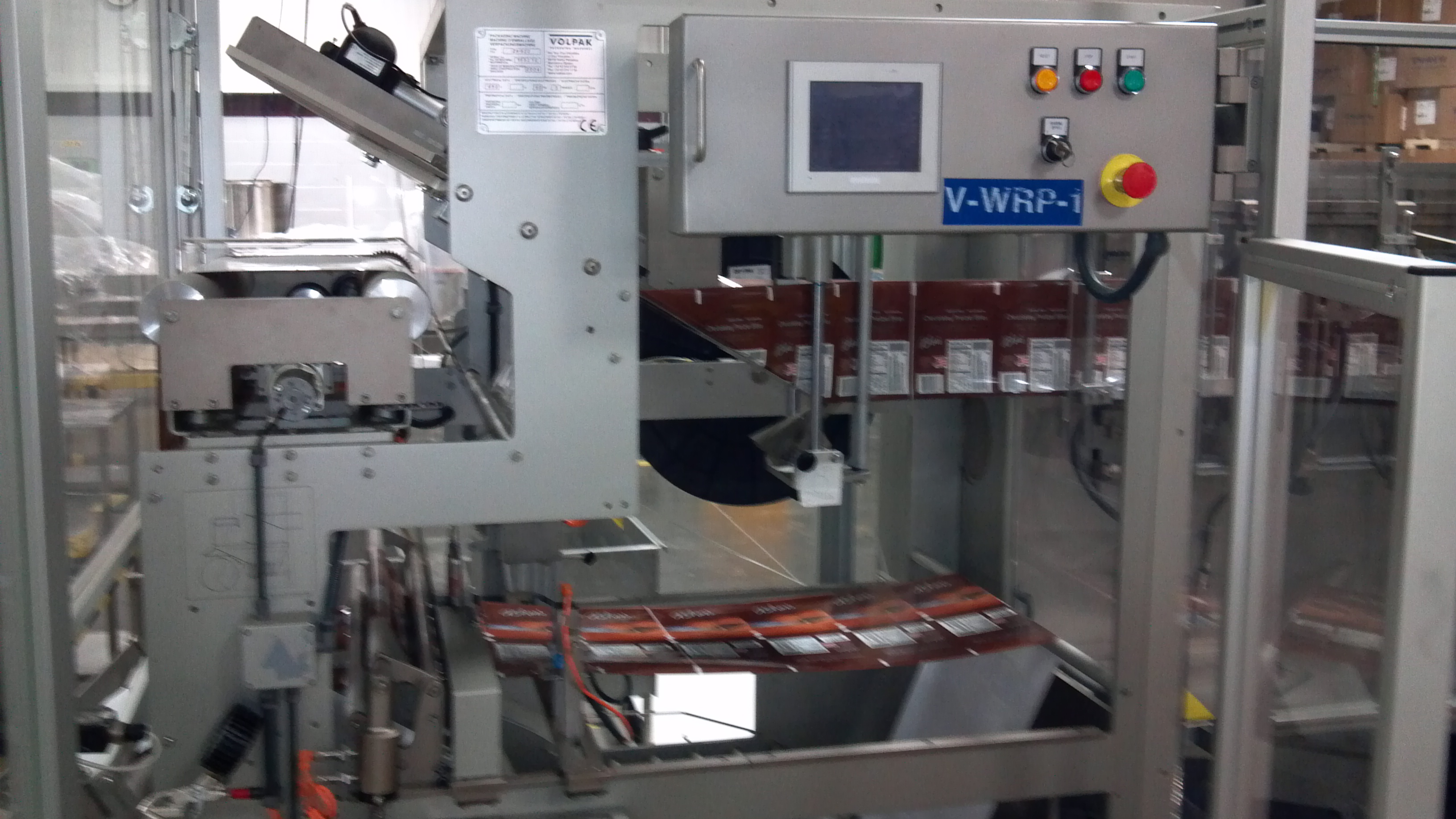 ***SOLD***Form Fill and Seal System with Scale. System consists of Volpak Model SP-170 S1F;  Serial Number 16521 E Form, Fill and Seal unit.  14 Head Yamato Scale model ADW 314SD. Last running in a confectionery plant. Excellent condition. Capable of a minimum pouch size: 2-3/4