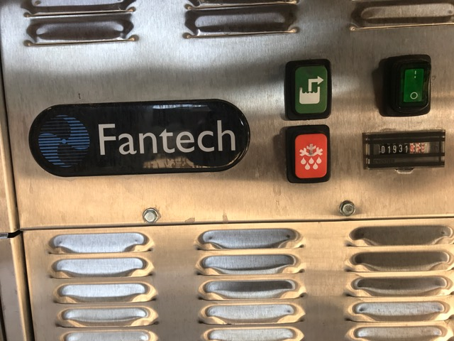 ***SOLD***used Fantech Stainless steel Dehumidifier. Believed to be a model B755628. Rated 235 CFM