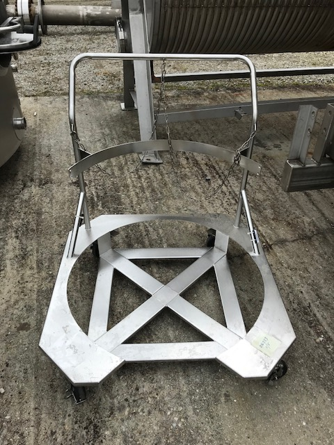 (5) Each Stainless Steel Tank/Drum Hand Carts.  Has opening for 32