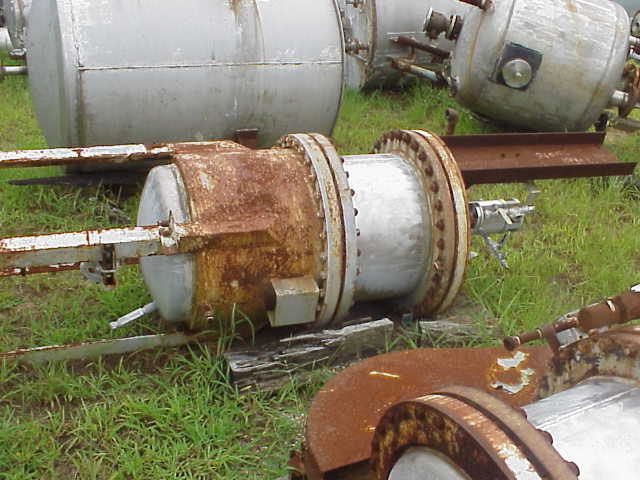 Qty (2) each: 75 Gallon 316 Stainless Steel Reactor. No drive for Agitator.