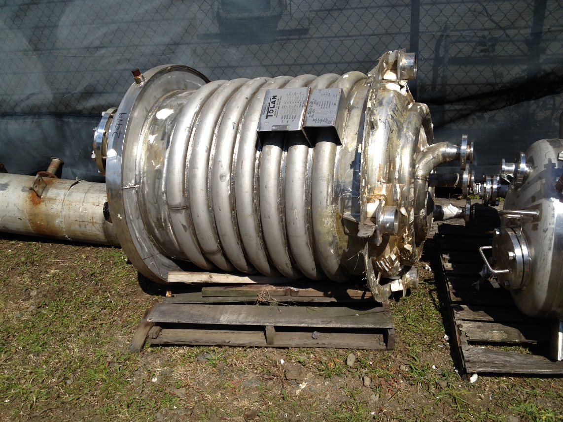 Used 200 Gal vertical, jacketed, 316L Stainless Steel Reactor body by TOLAN. S/N: 8125.  36