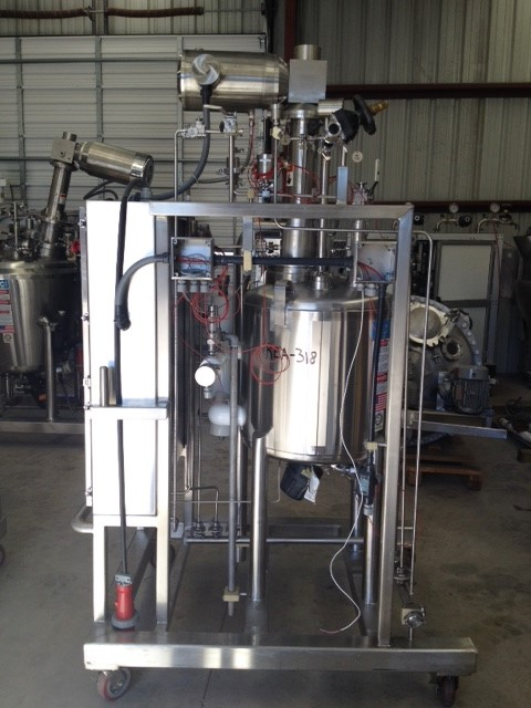 Used DCI Sanitary Reactor, 100 Liter (26.4 Gallon), 316L Stainless Steel, Vertical. 22