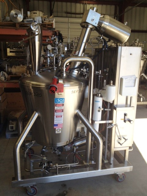 Used DCI 100 Gallon (370 L) Sanitary reactor. Vertical. 36