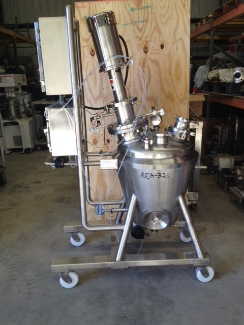 ***SOLD***Used DCI, 20 Gallon (75 L) Sanitary Reactor. 316L Stainless Steel, Vertical. 24