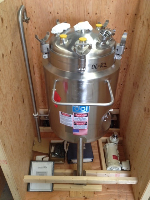 ***SOLD*** DCI 139 Liter (36 Gallon) Sanitary reactor. Rated 30/FV @ 400 Deg.F internal and 140/FV @ 361 Deg.F. Jacket. 20