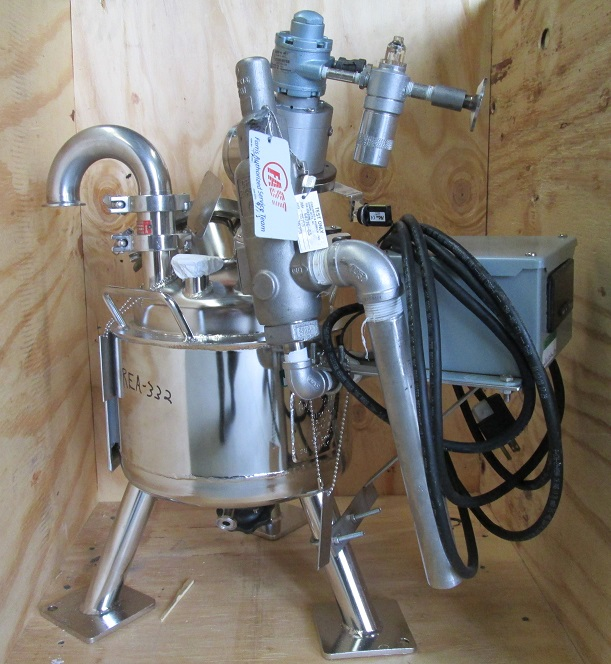 ***SOLD***1.8 gallon (7 Liter) 316L Stainless Steel Reactor. Pharmaceutical, sanitary reactor built by Pope Scientific/Alloy Products. Approx. 9