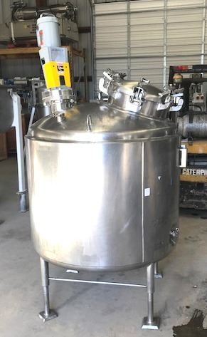 used 250 Gallon Mueller Sanitary Reactor. 4' dia. x 2'8