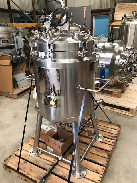 used LEE 26.4 Gallon (100 Liter) Sanitary Pharmaceutical Vacuum reactor/fermentor. 18