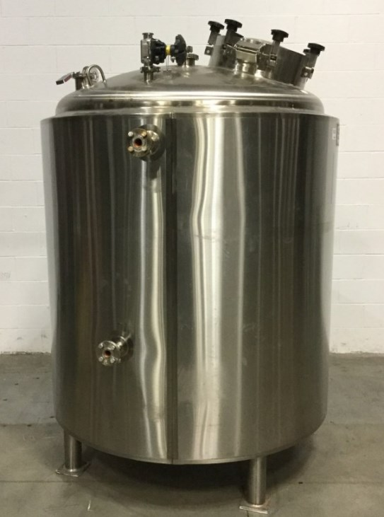 used 2000 Liter (528 Gallon) Feldmeier Sanitary Reactor/Fermenter Vessel rated 30/Full Vacuum PSI @ (-20) 400 Deg.F, Jacket rated 125 PSI @ (-20)400 Deg.F. S/N 4797-A1. NB # 1062. Unit is approx. 60