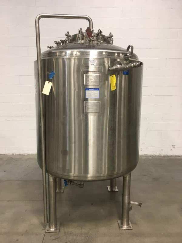 used 1500 Liter Mueller Sanitary Reactor Vessel. Model F.  Internal Rated 50 PSI/Full Vacuum @ 300 Deg.F. Jacket rated 50 PSI @ 300 Deg.F. SN: P-31164-2. NB# 15858.