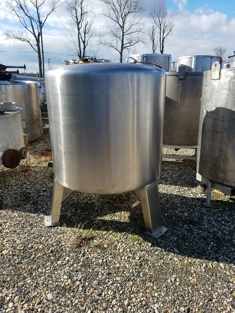 used approx. 300 gallon stainless steel tank.  48