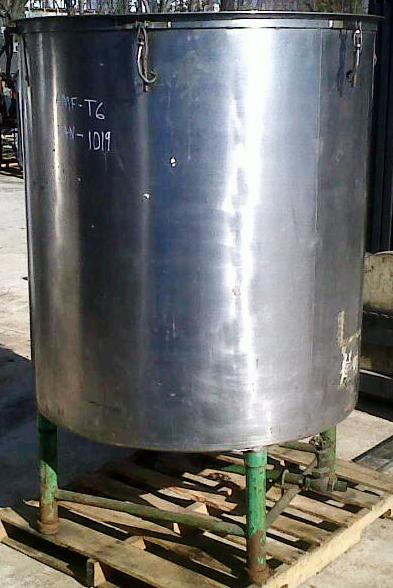 used approx. 400 gallon stainless steel tank.  48