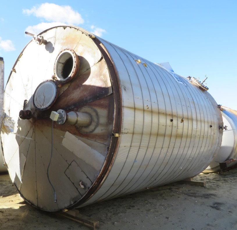 used 15,200 Gallon Stainless Steel Storage Tank. Built by Tate Metal works. Approx 12' Dia. x 18' T/T.  Flat Bottom and Cone top.