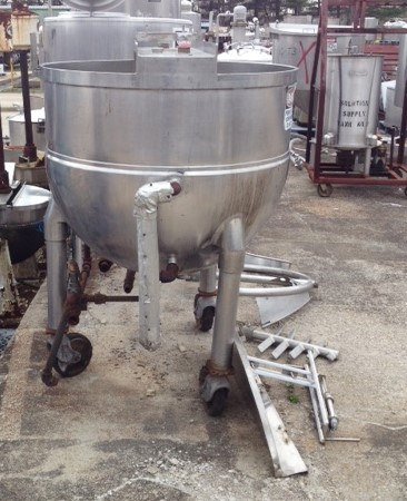 Used 150 Gallon Groen Jacketed Kettle. Model TA150SP.  Jacket rated 100 PSI. Approx. 42