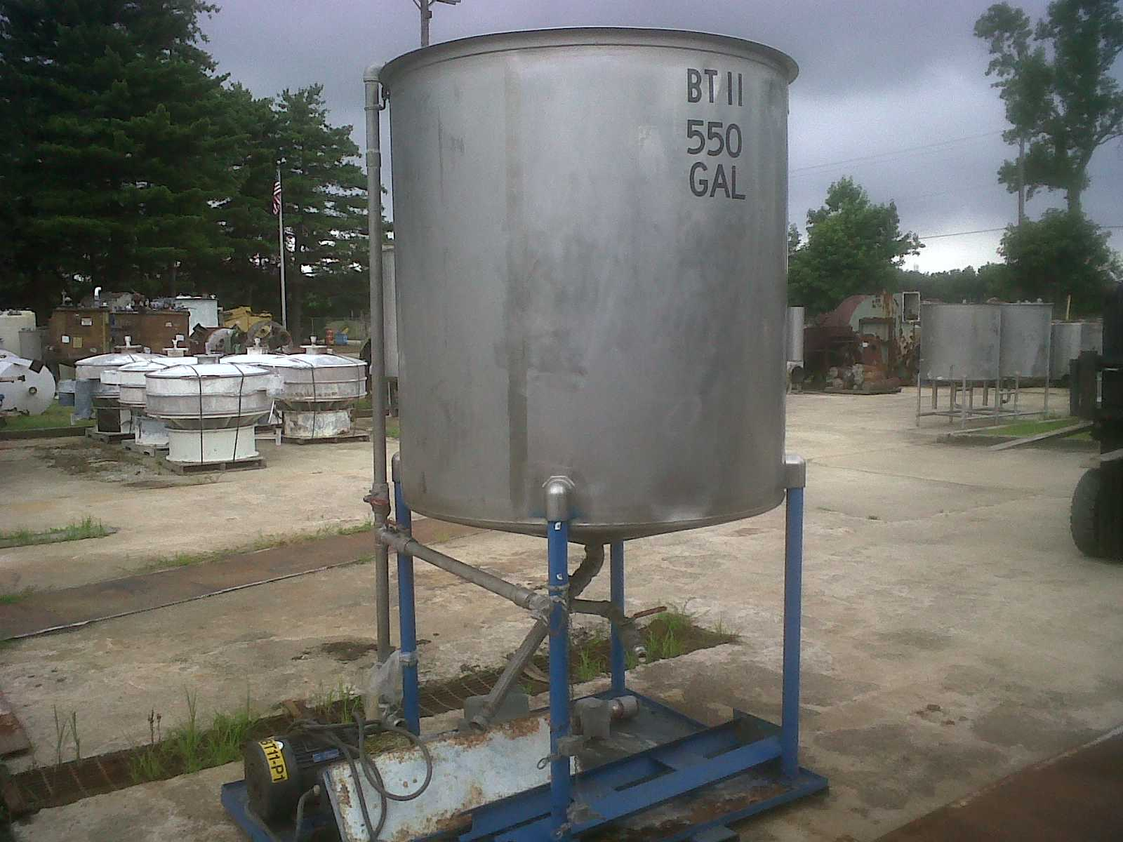 ***SOLD***used 550 gallon stainless steel tank.  56