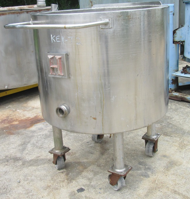 50 gallon stainless steel jacketed tank.  Jacket is electrically heated.  Tank is 28