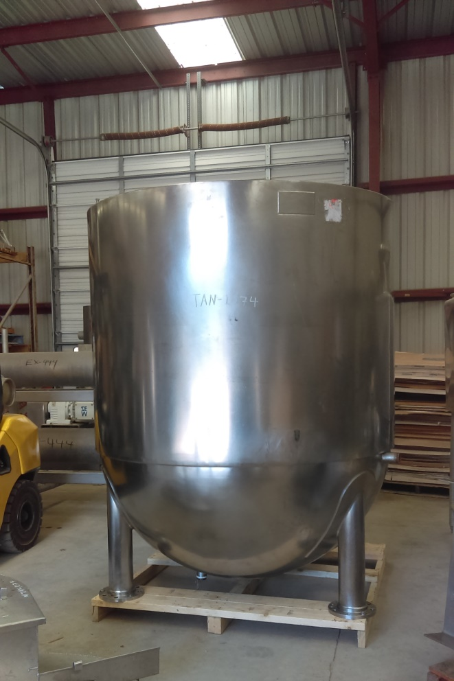 ***SOLD***used 1000 gallon LEE Double Motion Jacketed Mix Kettle. Model 1000D9MS, Double Motion Sweep Scraping Agitator with 25 HP, 230/460 volt Motor with Gearbox. Stainless Steel. Last used in Sanitary Food Plant. Jacket rated 25 PSI @ 268 Deg. F.  NB 8759