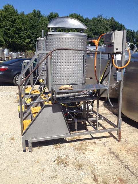 used 200 gallon Mix Tank System. System includes (2) 200 Gallon 3' dia. x 3'8