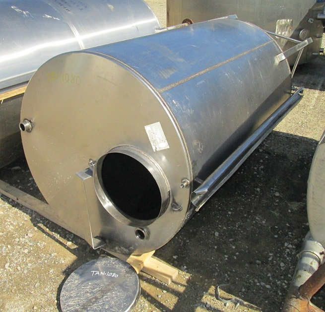 ***SOLD***used 500 Gallon Stainless Steel tank. Flat Bottom, Flat top with manway. 3'9
