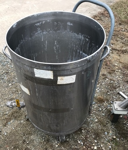 used 50 gallon Stainless Steel tank/drum.  23