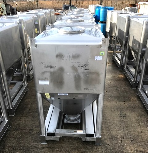 (9) 60 Cu.Ft. Stainless Steel Totes built by Gallay Systems Ltd. (GEA). 44