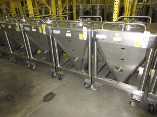 (2) 10 Cu.Ft. Stainless Steel Totes built by Tote Container Systems Ltd. 32