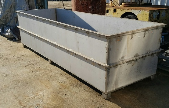used 1000 gallon stainless steel tank.  Heavy duty 1/4