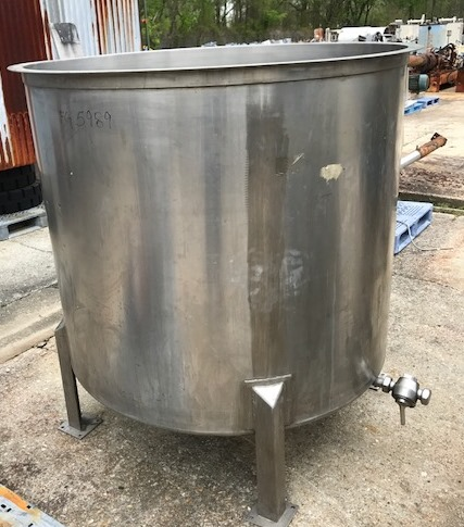 used 500 gallon Sanitary Stainless Steel tank. 55