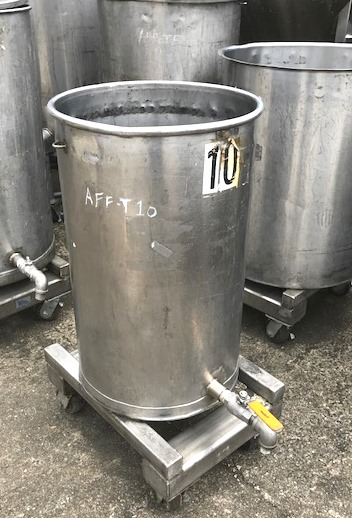 used 30 gallon Stainless Steel tank.  18