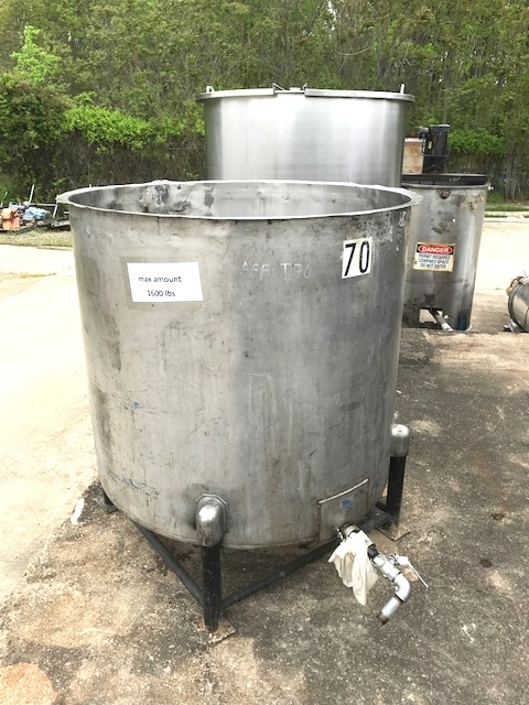used 260 gallon Stainless Steel tank.  45