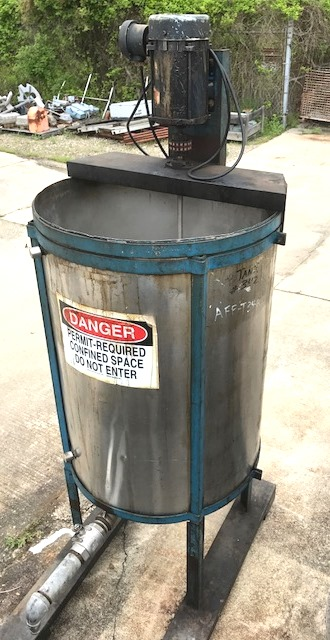 used 120 gallon Stainless Steel Mix tank.  30