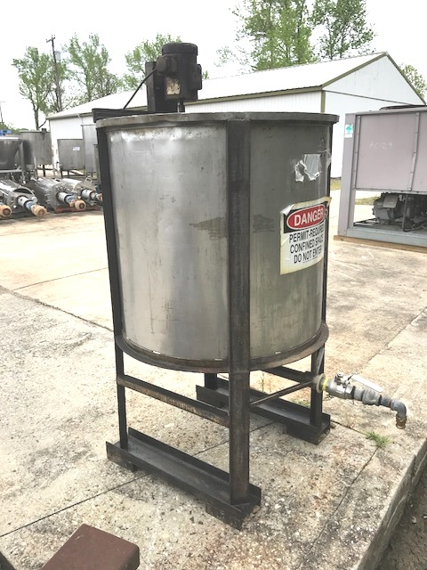 used 160 gallon Stainless Steel Mix tank.  36