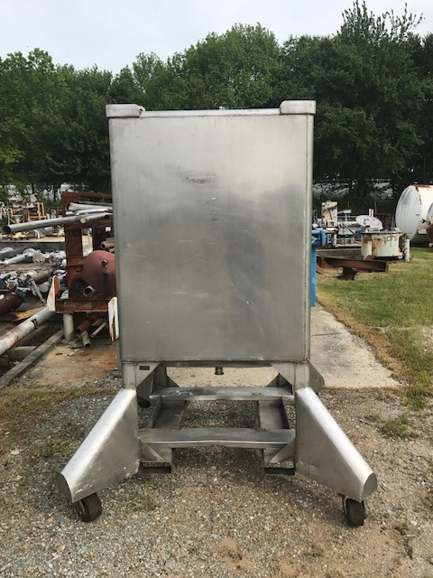 ***SOLD*** used 350 gallon Stainless steel Tank/Tote. 3'6