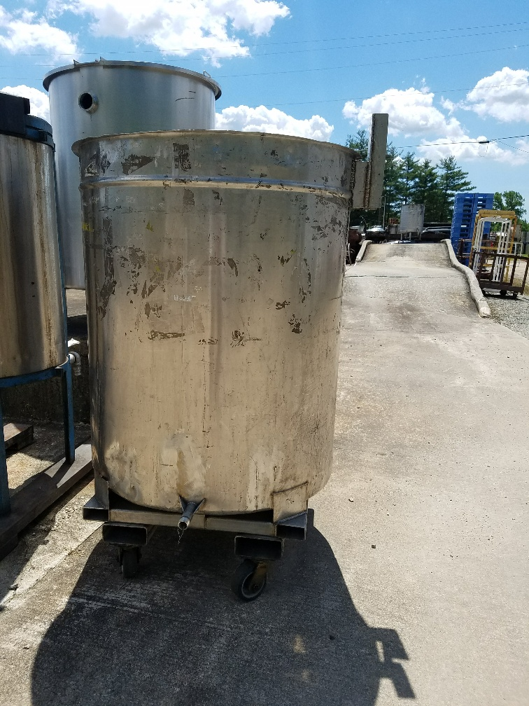 used 226 gallon stainless steel tank built by Chem-Tek.  36