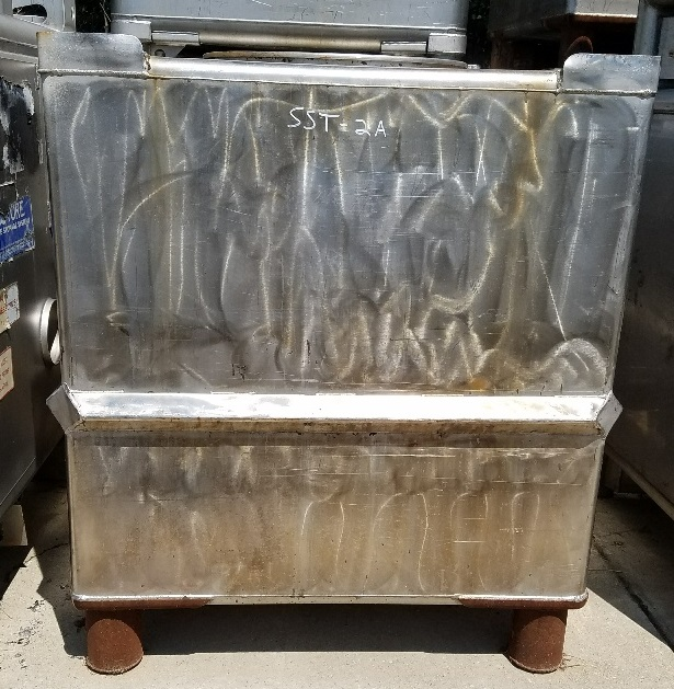 Qty (4): used 300 gallon stainless steel tote.  HB Fuller.  41