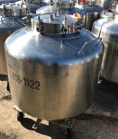Used 190 Gallon (720 Liter) Letsch portable Tote/Vessel. 42