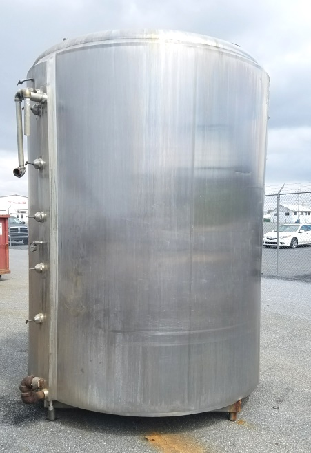 used 2000 Gallon Stainless Steel Jacketed tank built by Cherry Burrell. Batch Processor model EPDA. 7' ID x 8'6