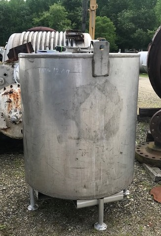 used 345 Gallon Stainless Steel Tote/Tank. 3'9
