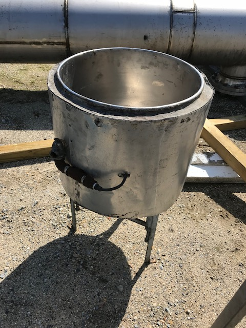 used 20 Gallon Stainless Steel Jacketed Kettle. approx 20