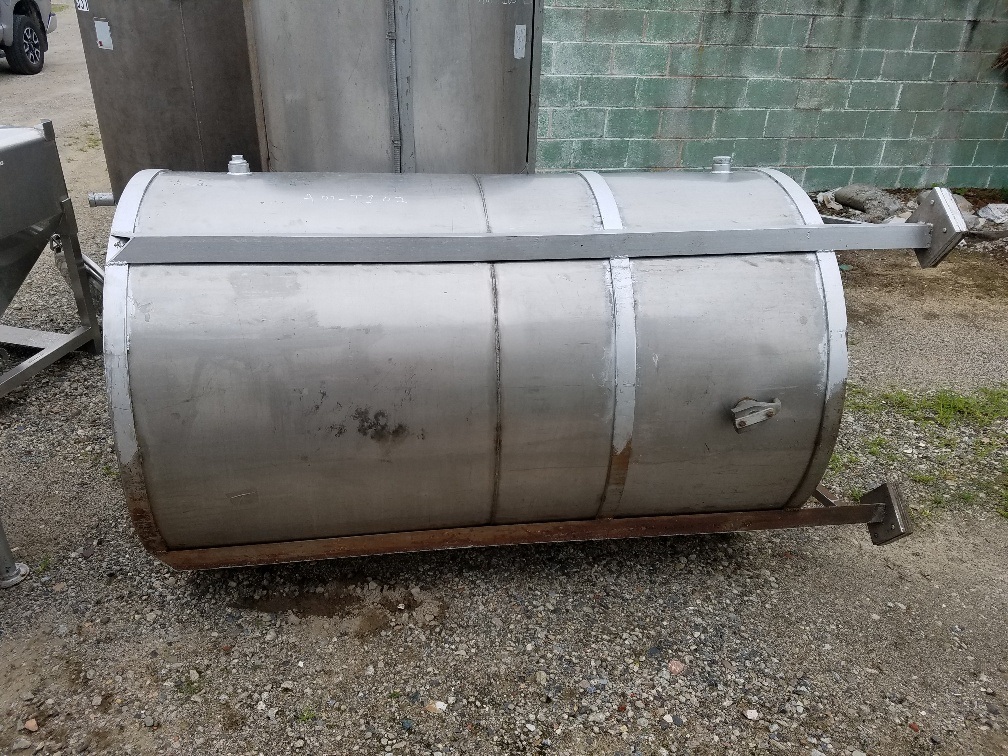 used 450 gallon stainless steel storage tank.  Has provision for side entering mixer (not available).  44