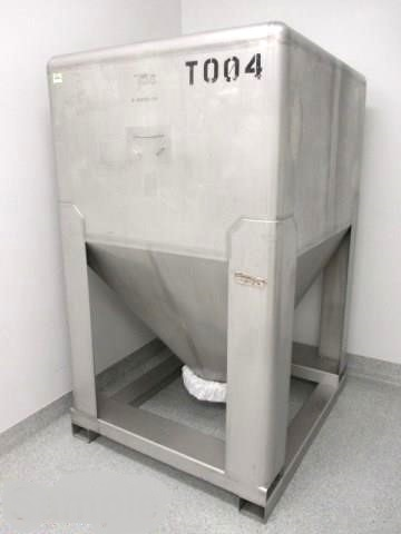 (62) TOTE Systems 1400 Liter IBC Tote Tanks/Bins, Stainless Steel, 50cu.ft., 370 gallons.  22.5