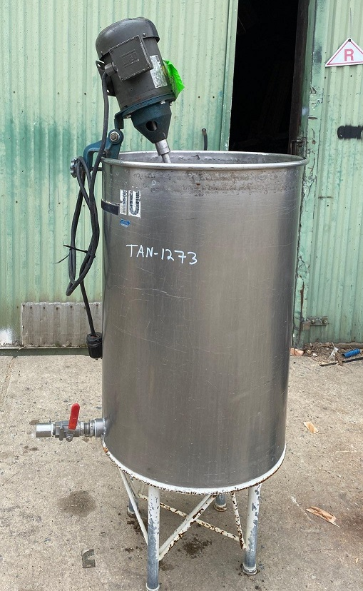 used 50 gallon Stainless Steel Mix Tank. 22