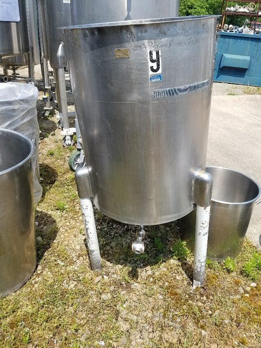 used 60 gallon Stainless Steel Tank. 24