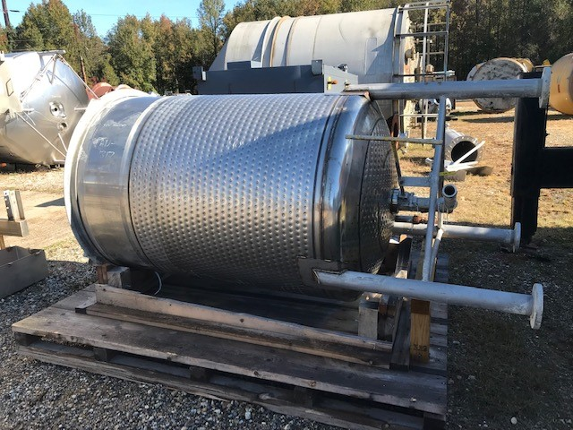 (2) 500 Gallon Stainless Steel Jacketed Tank with Dish Bottom.  4' Dia. x 5'6