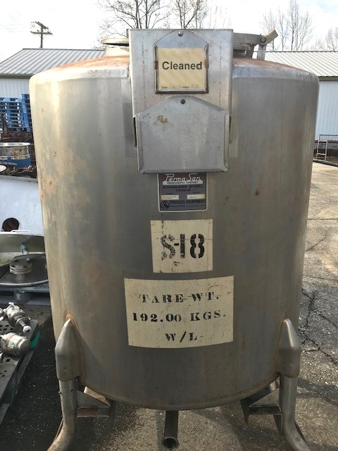 (2) Used 250 Gallon Permasan 316 Stainless Steel Portable tanks. 3'6