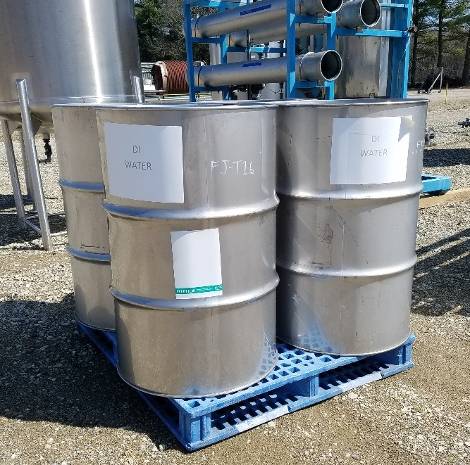 ***SOLD*** (4) used Stainless Steel 55 gallon drum. Approx. 22