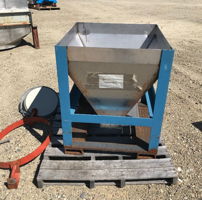 used 6 Cu.Ft. Stainless Steel Tote hopper. 30